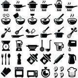 Matlagningsymboler Royaltyfria Bilder