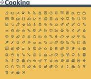 Matlagningsymbolsuppsättning Royaltyfri Foto