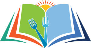 Matlagningutbildningslogo Arkivbild
