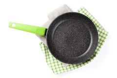 matlagningutrustning som steker isolerad pannawhite Royaltyfria Foton