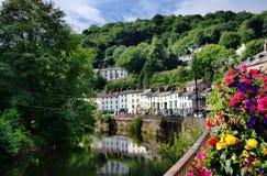 Matlock-Bad und Fluss Derwent Lizenzfreie Stockfotografie
