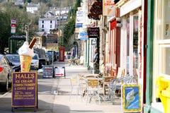 Matlock Bath, Derbyshire. The main street of the village of Matlock Bath, Derbyshire, England, UK. in February Royalty Free Stock Image