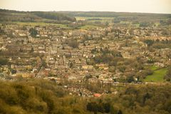 Long distance view of Matlock in Derbyshire Royalty Free Stock Photo