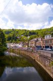 Matlock and the derwent. North parade matlock and the derwent Royalty Free Stock Photo
