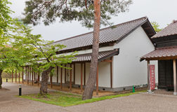 Matmagasin av det Goryokaku fortet i Hakodate, Japan Royaltyfria Bilder