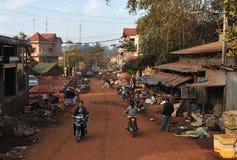 Matmarknad av Cambodja Arkivbilder