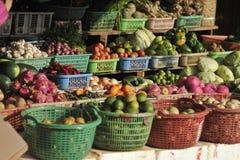 Matmarknad av Cambodja Royaltyfria Bilder