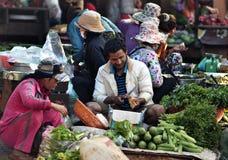 Matmarknad av Cambodja Royaltyfri Fotografi