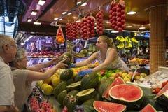 Matmarknad för St Joseph - Barcelona - Spanien. Royaltyfri Fotografi