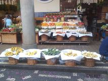 Matmarknad från madeiran Islan Portugal arkivfoton