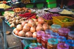 Matmarknad i Asien Arkivfoto