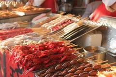 Matmarknad i Peking Arkivfoton