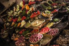 Matmarknad, Madagascar Arkivbild