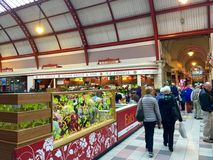 Matmarknad - Newcastle - England Arkivbilder