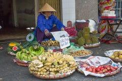 matmarknad vietnam Fotografering för Bildbyråer