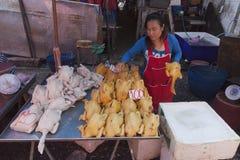 Matmarknader i Bangkok Arkivbild
