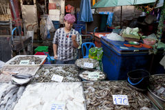 Matmarknader i Bangkok Arkivfoton