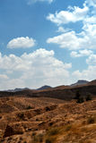 Matmata -突尼斯的荒废村庄的全景 免版税库存图片
