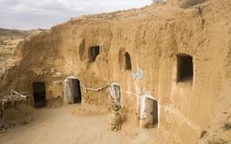 Matmata region av Berbers i Tunisien arkivbilder