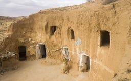 Matmata-Region von Berbers in Tunesien stockbilder