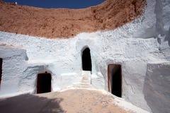 Matmata, Tunisia. House of Berbers in Sahara desert, Matmata Tunisia Royalty Free Stock Images
