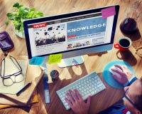 Matning för kunskapsutbildningsnyheterna annonserar begrepp royaltyfri bild