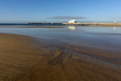 Matosinhos beach during low tide Stock Photo