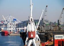 Matosinhos docks panoramic view Stock Image