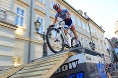 Matous Ulman - Prague Steps bike race Royalty Free Stock Photos