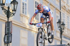 Matous Ulman - Prague Steps bike race Royalty Free Stock Photo