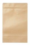 matpåse för brunt papper Arkivfoto