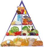 Matpyramid stock illustrationer