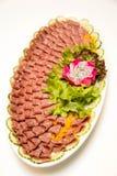 Maträtt av blandad kallskuret Arkivbild