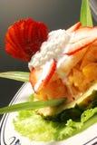 Maträtt av frukt Royaltyfria Foton