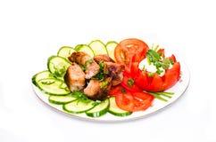 Maträtt av kött Royaltyfri Bild