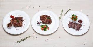 Maträtt av stekt köttbiff Royaltyfria Bilder