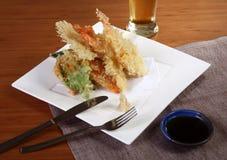 Maträtt av tempura Arkivbild