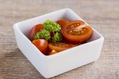 Maträtt av tomater Royaltyfri Fotografi