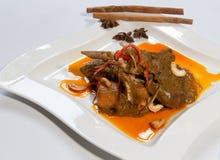 Maträtt för currylammben Arkivfoto