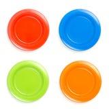 maträtt för 4 färg Arkivfoto