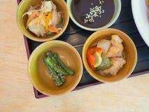 Maträtt för japansk sida Fotografering för Bildbyråer