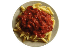 maträtt isolerad macaroni Fotografering för Bildbyråer