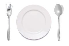 maträttgaffelsked Arkivfoton