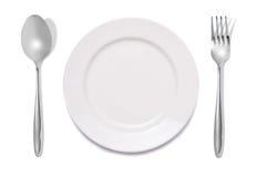 maträttgaffelsked Arkivbilder