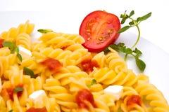 maträttpasta Fotografering för Bildbyråer