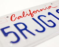 Matrícula de Califórnia Foto de Stock