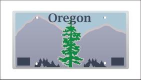 Matrícula de Oregon ilustração royalty free