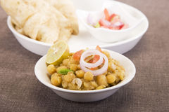 Matra Chaat with Aloo Kulcha Royalty Free Stock Images