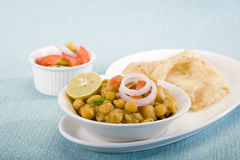 Matra Chaat con Kulcha Immagine Stock