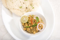 Matra Chaat with Kulcha Stock Images